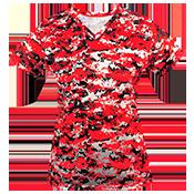 Digital Camouflage Ladies V-Neck Badger Jersey 4186