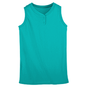 Youth Sleeveless Two Button Softball Jersey  -  551 551