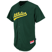 Athletics Official MLB Full Button Youth Jersey - MA654Y Athletics_FullButton_Jersey_Youth_M684Y
