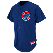 Cubs Full Button Baseball Jersey - Adult Cubs_Full_Button_Jersey_M6840Cubs-6540