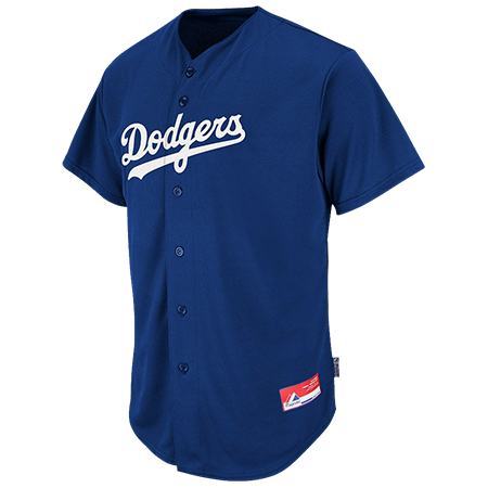 Dodgers Official MLB Full Button Youth Jersey - CustomPlanet.com