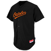 Orioles Full Button Baseball Jersey - Adult Orioles_Full_Button_Jersey_M6840