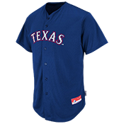 Rangers Official MLB Full Button Youth Jersey - MA654Y Rangers_FullButton_Jersey_Youth_M684Y