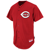 Reds Official MLB Full Button Youth Jersey - MA654Y Reds_FullButton_Jersey_Youth_M684Y