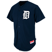 Tigers Official MLB Full Button Youth Jersey - MA654Y Tigers_FullButton_Jersey_Youth_M684Y