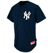 Yankees Full Button Baseball Jersey - Adult Yankees_Full_Button_Jersey_M6840