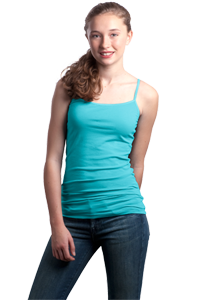 District Threads® - Junior Ladies Adjustable Strappy Tank DT246