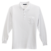 Adult Silk Long Sleeve Polo Shirt With Pocket  - K500LSP K500LSP