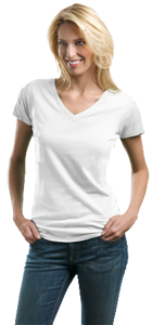 Port Authority® - Ladies V-Neck Tee LM1002