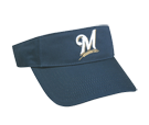 Miluakee Brewers-Official MLB Visor for Little Kids Softball League Brewers-Visors