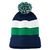 Vintage Striped Beanie with Removable Pom - District DT627
