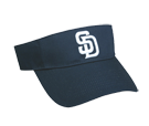 San Diego Padres - Official MLB Visor for Little Kids Softball League Padres-Visors